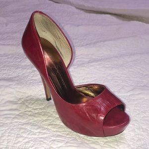 Jessica Simpson Vintage Leather Platform Heels!